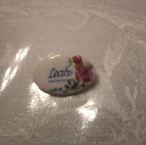 Leah namesake small ceramic pin/brooch